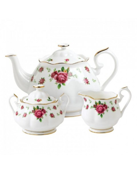 (OUT OF STOCK) ROYAL ALBERT NEW COUNTRY ROSES TEAPOT SET